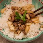 Beef strips with chilli and ginger